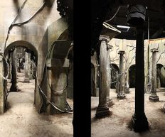 Doctor Who Series 9, Hell Bent, Cloisters film set
