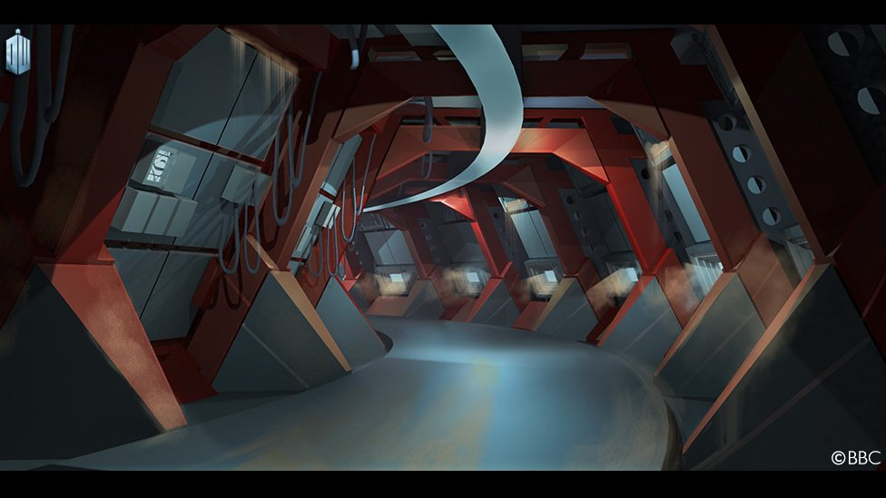 Doctor Who Series 9, Sleep No More, ship corridor concept