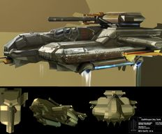Doctor Who Series 9, Hell Bent, Gallifrey sky tank concept art