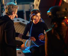 Doctor Who Series 9, Sleep No More, with Morpheus pod film still