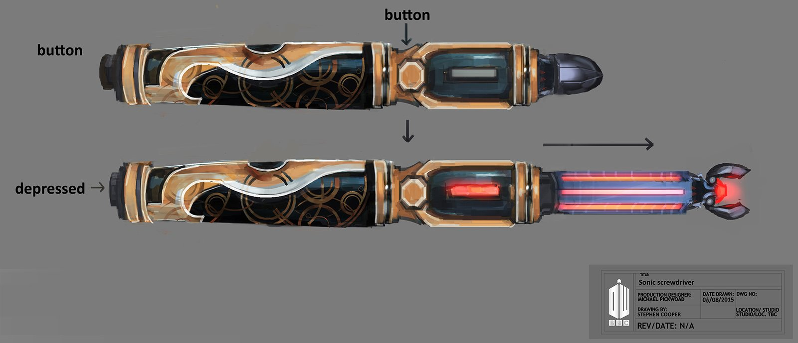 Doctor Who Series 9, 12th Sonic Screwdriver, concept development