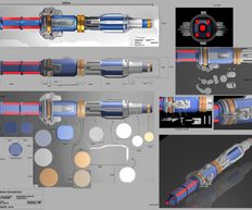 Doctor Who Series 9, 12th Sonic Screwdriver, Technical drawings by Stephen Cooper.
